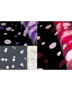 5m, 10m, 20m, 50m, 100m Polka Dot Florist Film Roll Cellophane Gift Wrap