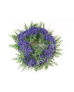 Wreath With Puple Berries Artificial Silk Flowers Decoration (4044)