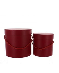 2 Florist Flower Hat Boxes Red (4569)