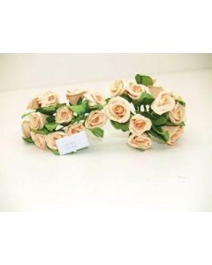 16mm 24 Paper Roses Yellow Flowers (1510)