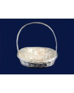 """20""""  Oval Display Basket Bleached White (3612)"""