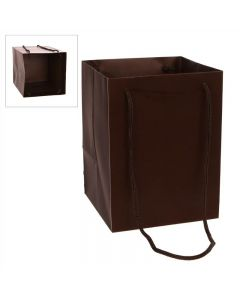 10 Large Porto Bags to Display Hand Tied Flower Bouquets ChocoladeBrown(2804)