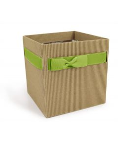 5 Square Small Florist Flower Hat Box Gift Box Brown-Green  4777-5