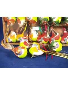 12 Artificial Feather Birds On Clips (3642)