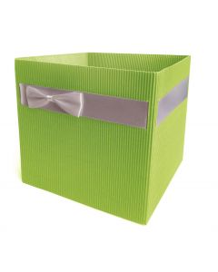 5 Square Medium Florist Flower Hat Box Gift Box Green-Silver 4680-5