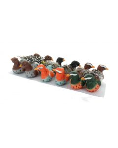 12  Artificial Feathered Birds Clips (4444)