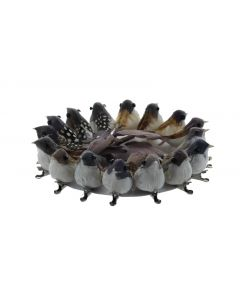 12 Artificial Feather Birds On Clips (4658)