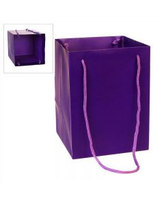 10 Large Porto Bags to Display Hand Tied Flower Bouquets Purple (2799)