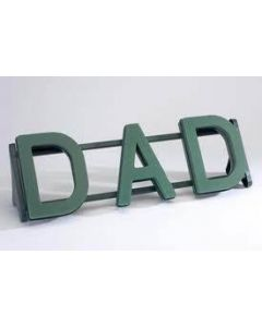 DAD Funeral Name Letters Tribute on a Naylorbase Frame by Smithers Oasis (2873)