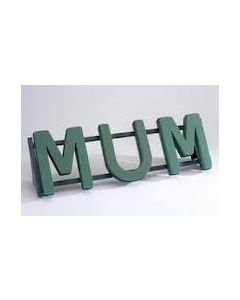 MUM Funeral Name Letters Tribute on a Naylorbase Frame by Smithers Oasis (2872)