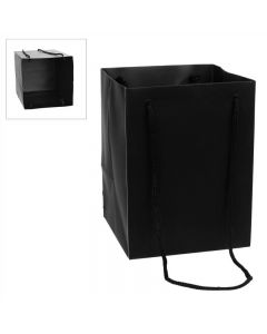 10 Large Porto Bags to Display Hand Tied Flower Bouquets Black (2802)