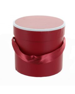 Round Florist Flower Mini Hat box Claret 4730