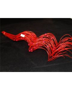 40 Half Curly Willow With Beads Ting Ting Red (2246)