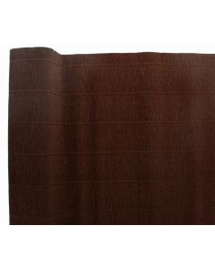 Premium Italian Floristry and Crafts Crepe Paper Roll Brown 50cm x 2.5m (1355)
