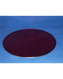 35cm Oasis Luxury Round Bevelled Wedding Red Mirror Plate Centrepiece (2894)
